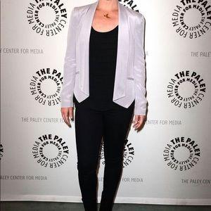 Rebecca Minkoff Becky silk blazer in lavender